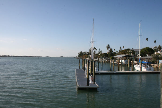 Closest to the Gulf. Pass a Grille Marina transient boat dock slip boat slip rental storage 4